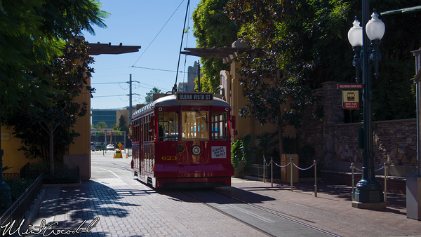 Disneyland Resort, Disney California Adventure, Red Car Trolley, Backstage