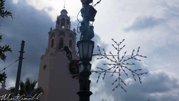 Disneyland Resort, Disney California Adventure, Buena Vista Street, Christmas Time, Christmas, 2014, Snowflake, Light
