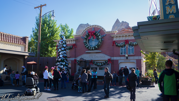 Disneyland Resort, Disney California Adventure, Cars Land, Christmas Time, Christmas