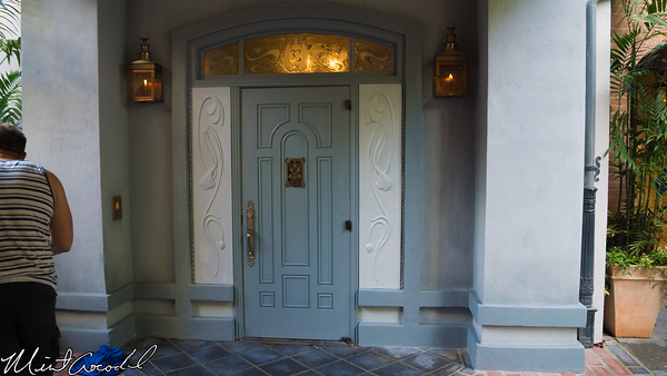 New Orleans Square Disneyland Club 33 The New Entrance to Club 33
