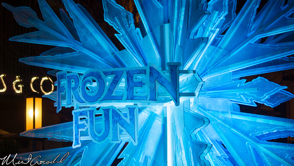 Disneyland Resort, Disney California Adventure, Buena Vista Street, Frozen, Fun, Snowflake