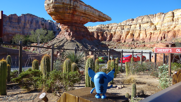 Disneyland Resort, Disney California Adventure, Cars Land, Radiator Springs Racers, Stitch