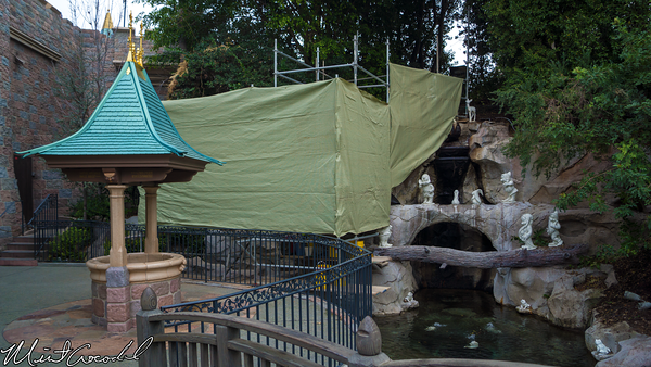 Disneyland Resort, Disneyland, Snow, White, Wishing, Well, Refurbishment, Refurbish, Refurb