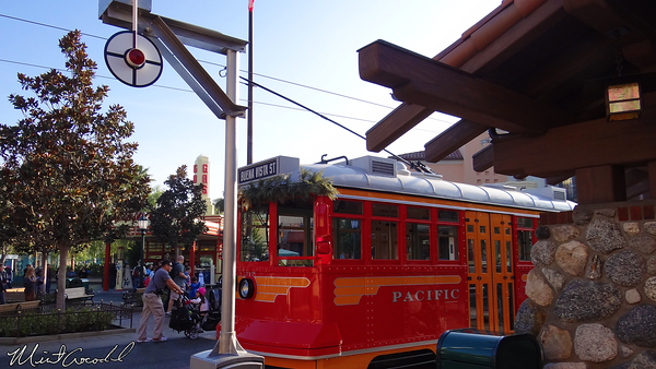 Disneyland Resort, Disney California Adventure, Buena Vista Street, Red Car Trolley