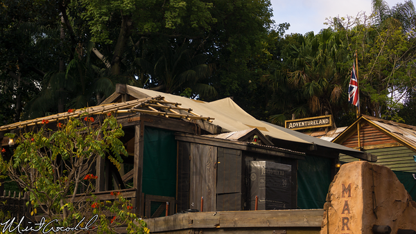 Disneyland Resort, Disneyland, Adventureland, Jungle, Cruise, Queue, Line, Upstairs, Refurbishment, Refurbish, Refurb