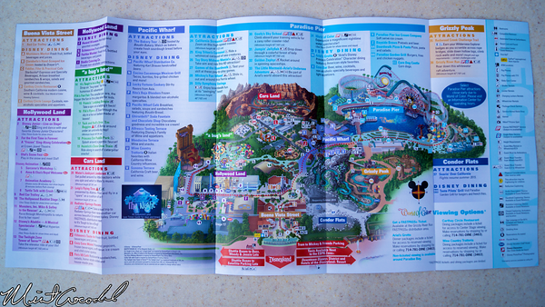 Disneyland Resort, Disney California Adventure, 2015, Guide, Map, Frozen, Fun