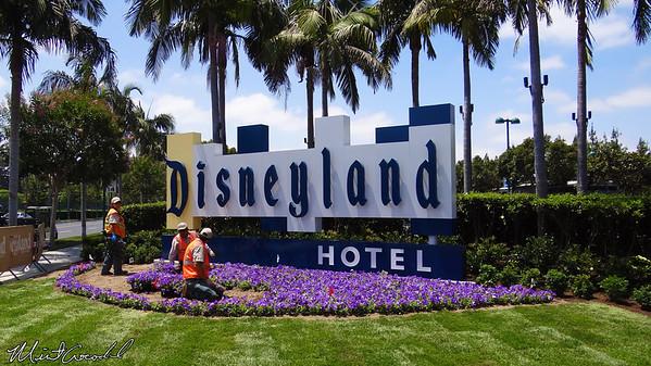 Disneyland Resort, Disneyland Hotel, Entrance, Sign