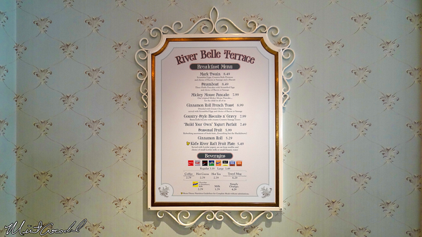 Disneyland Resort, Disneyland, River Belle Terrace, New Menu