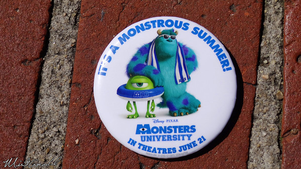 Disneyland Resort, Disneyland, Monster, Summer, Button