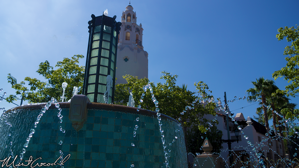 Disneyland Resort, Disney California Adventure, Buena Vista Street, Fountain