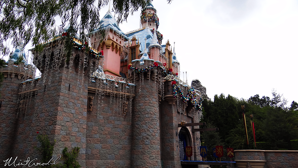 Disneyland Resort, Disneyland, Sleeping Beauty Castle, Fantasy Faire, Christmas, Christmas Time