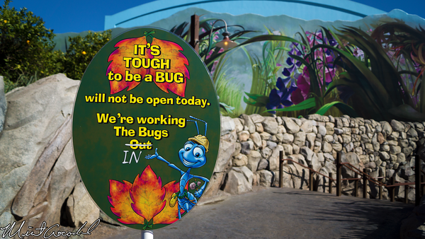 Disneyland Resort, Disney California Adventure, it's tough to be a bug, Refurbishment, Refurbish, Refurb