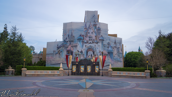 Disneyland Resort, Disneyland, Main Street U.S.A., Sleeping, Beauty, Castle, Refurbishment, Refurb, Refurbish, Disneyland60, Diamond, Concept, Art, Canvas, Tarp