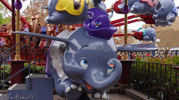 Disneyland Resort, Disneyland, Fantasyland, Dumbo, Stitch