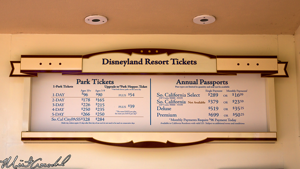 Disneyland Resort, Ticket, Prices, Increase