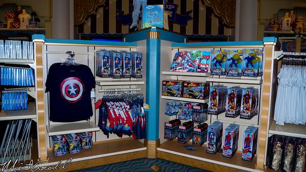 Disneyland Resort, Disney California Adventure, Buena Vista Street, Elias and Company, Captain America, Merchandise