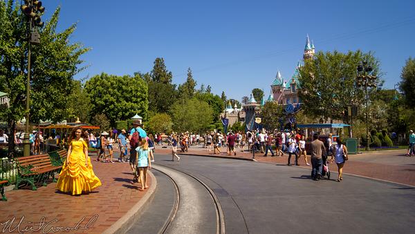 Disneyland Resort, Disneyland60, Disneyland, Main Street U.S.A., Hub, Girl, Dressed, Up, Belle