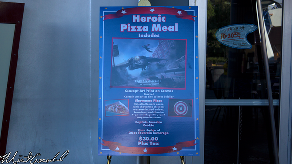 Disneyland Resort, Disneyland, Redd Rocket's Pizza Port, Captain America