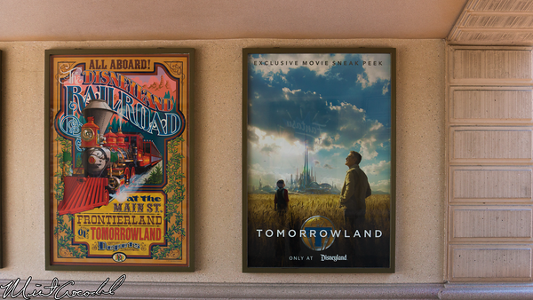 Disneyland Resort, Disneyland, Main Street U.S.A., Tomorrowland, Theater, Poster, Tunnel