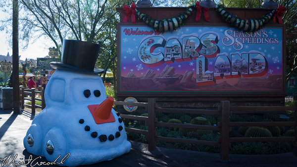 Disneyland Resort, Disney California Adventure, Cars Land, Christmas Time, Christmas, Snowy