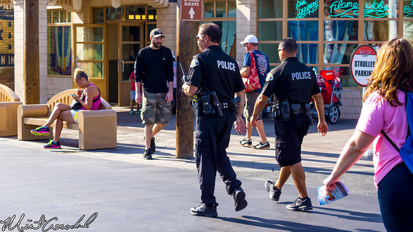 Disneyland Resort, Disney California Adventure, Cars Land, Anaheim, Police