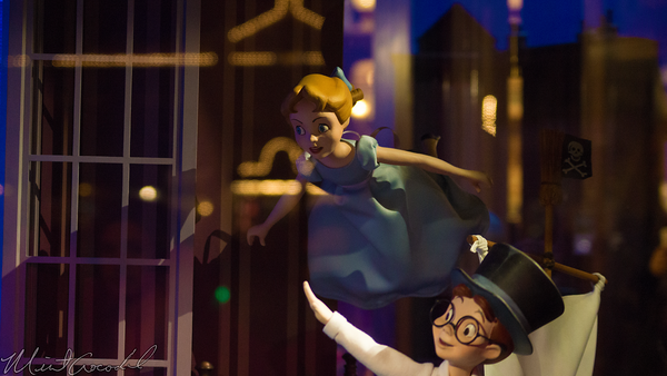 Disneyland Resort, Disneyland60, 60, Anniversary, 24, Hour, Party, Celebration, Kick, Off, Disneyland, Main Street U.S.A., Emporium, Peter, Pan, Window, Display