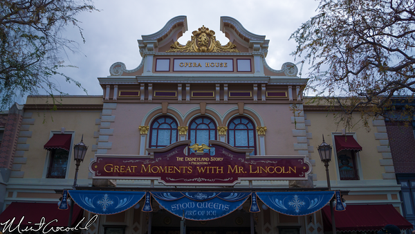 Disneyland Resort, Disneyland, Main Street U.S.A., Opera House, Frozen, Snow, Queens, Art of Ice