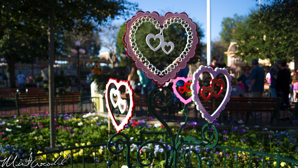 Disneyland Resort, Disneyland, Main Street U.S.A., Valentine, Day, Decor, Decorations, Heart, Flower