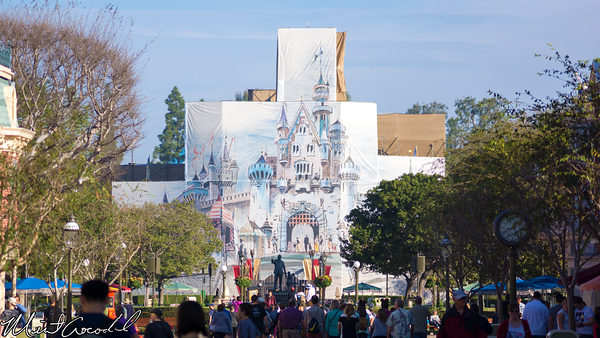 Disneyland Resort, Disneyland, Main Street U.S.A., Sleeping Beauty Castle, Refurbishment, Refurbish, Refurb, Tarp, Scrim, Concept, Herb, Ryan, Disneyland60