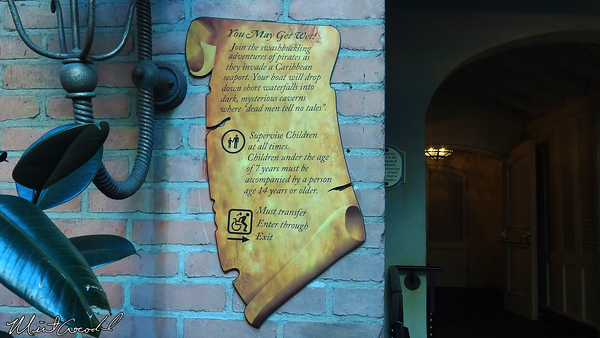 Disneyland Resort, Disneyland, New Orleans Square, Pirates of the Caribbean, Sign, 7 years, 14 year