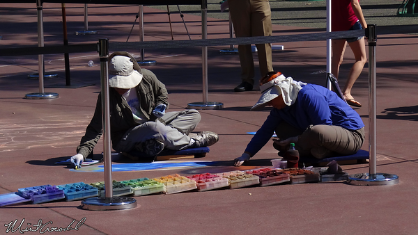 Disneyland Resort, 3D, Chalk, Drawing