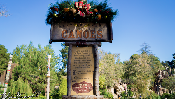 Disneyland Resort, Disneyland, Davy Crockett's Explorer Canoes, Let, It, Row, Experience, Christmas Time, Christmas
