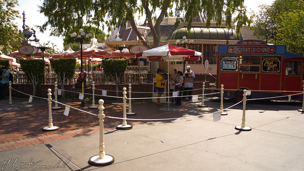 Disneyland Resort, Disneyland60, Disneyland, Main Street U.S.A., Corn, Dog, Wagon, Queue, Rope
