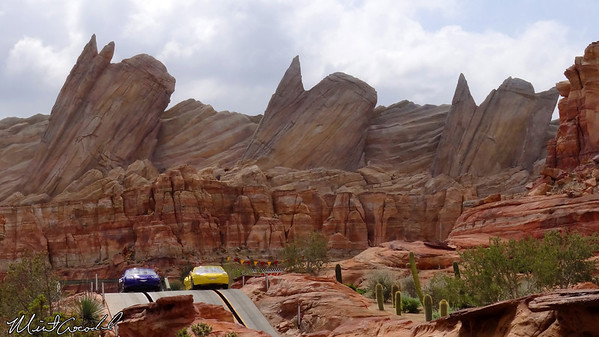 Disneyland Resort, Disney California Adventure, Cars Land, Radiator Springs Racers, Cadillac Range