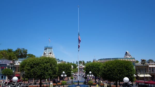 Disneyland Resort, Disneyland, Main Street U.S.A., Flag, Half, Staff, Mast