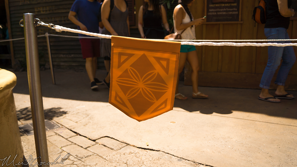 Disneyland Resort, Disneyland, Adventureland, Theme, Flag, Rope, Extended, Queue