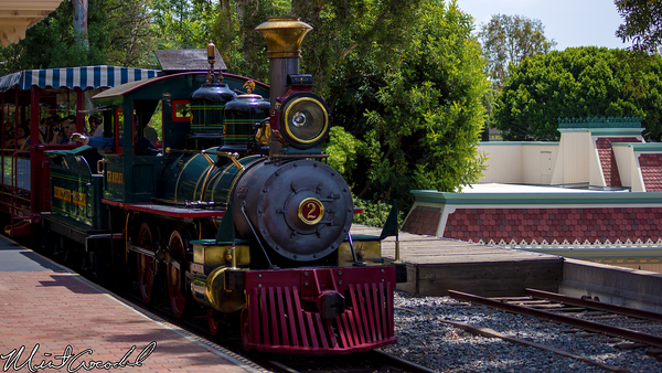 Disneyland Resort, Disneyland, Main Street U.S.A., Disneyland Railroad, Lilly Belle