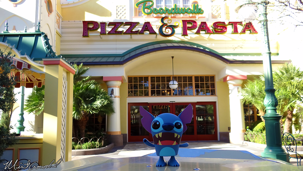 Disneyland Resort, Disney California Adventure, Paradise Pier, Boardwalk Pizza and Pasta, Stitch