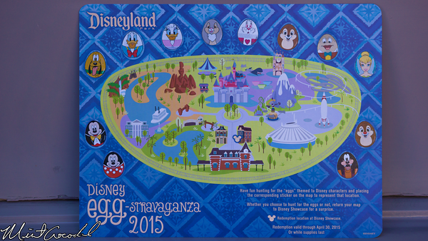 Disneyland Resort, Disneyland, Easter, Egg, Hunt, Eggstravaganza, Map