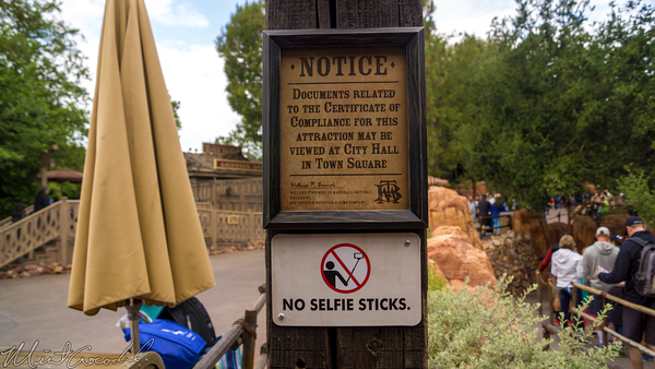 Disneyland Resort, Disneyland60, 60, Anniversary, 24, Hour, Party, Celebration, Kick, Off, Disneyland, Big, Thunder, Mountain, Railroad, Selfie, Stick, Ban, No