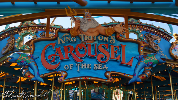 Disneyland Resort, Disney California Adventure, Paradise Pier, King Triton's Carousel of the Sea