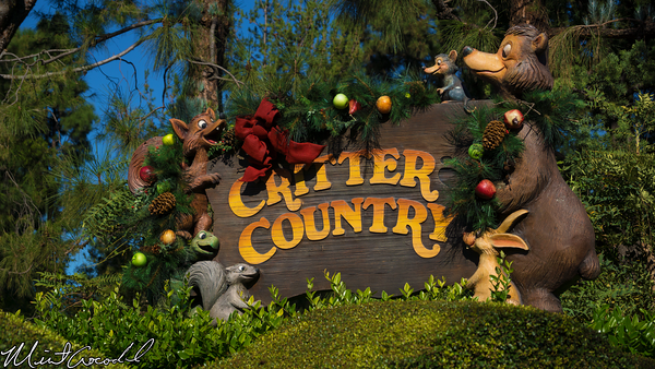 Disneyland Resort, Disneyland, Critter Country, Winnie the Pooh, Splash Mountain, Christmas Time
