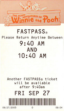 Disneyland, Winnie the Pooh, Many Adventures of Winnie the Pooh, FastPass, Fast Pass