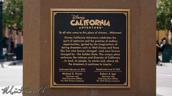Disneyland Resort, Disney California Adventure, Buena Vista Street, Dedication Plaque, 13, Birthday, Anniversary