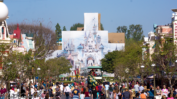 Disneyland Resort, Disneyland, Sleeping Beauty Castle, Refurbishment, Refurbish, Refurb, Tarp, Scrim, Concept, Herb, Ryan, Disneyland60
