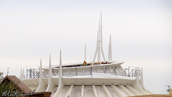 Disneyland Resort, Disneyland, Space Mountain, Scaffolding, Surveying