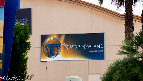 Disneyland Resort, Disney California Adventure, Tomorrowland, Billboard