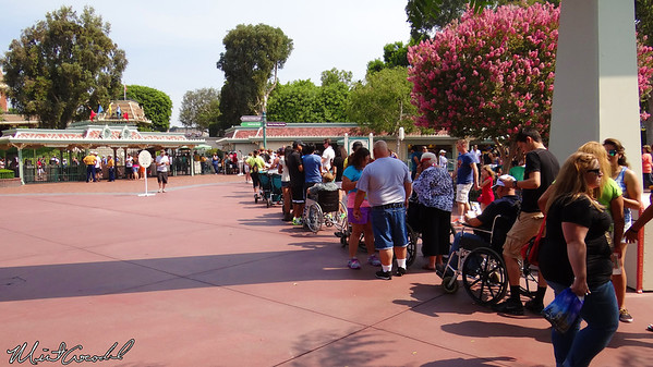 Disneyland Resort, Main Entry Plaza, Entrance, Wheelchair, Line
