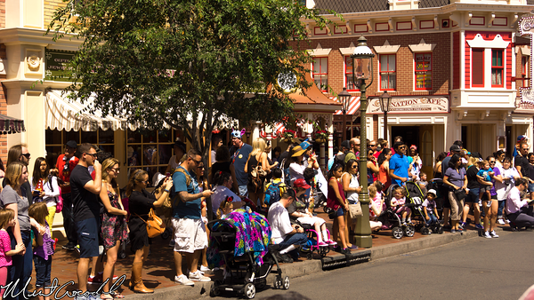 Disneyland Resort, Disneyland, Main Street U.S.A., Mickey, Mouse, Marching, Band, Crowd, Bottleneck, Bottle, Neck