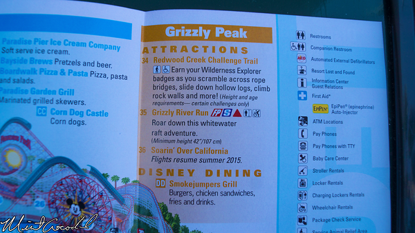 Disneyland Resort, Disney California Adventure, Guide, Map, Grizzly, Peak